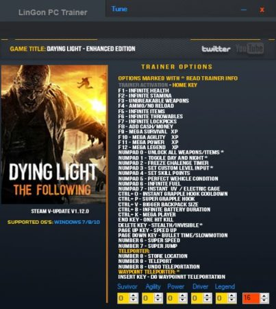dying-light-the-following-trainer