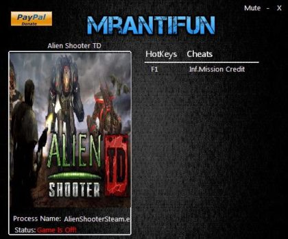 Alien Shooter TD trainer
