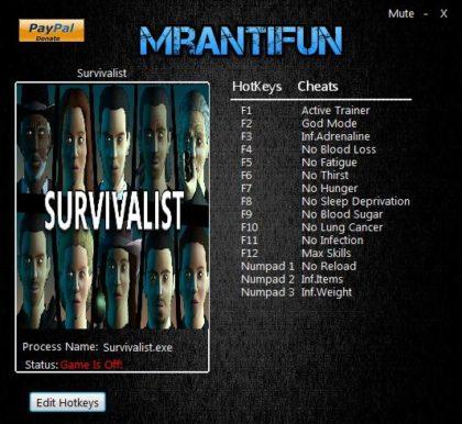 Survivalist trainer