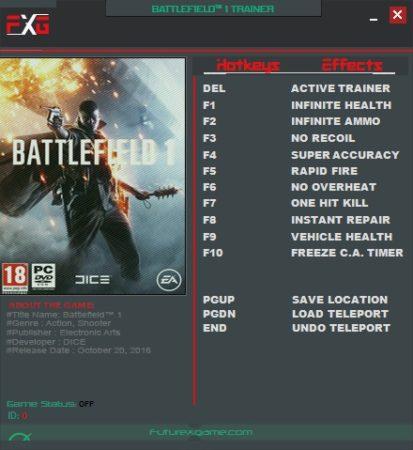 Battlefield 1 Trainer