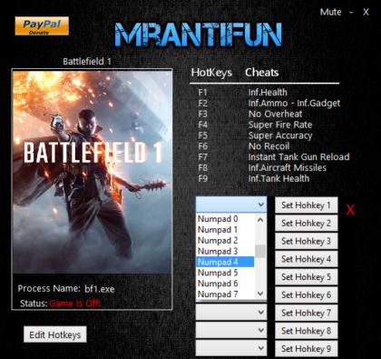 Battlefield 1 v10424+ Trainer