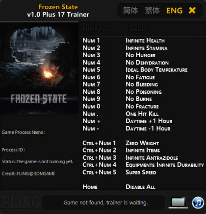 Frozen State trainer