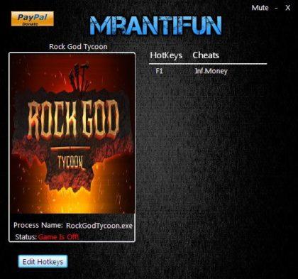 Rock God Tycoon trainer