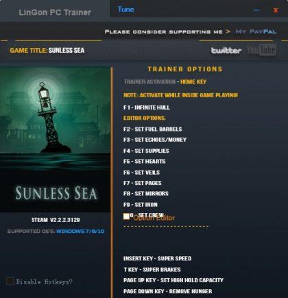 Sunless Sea trainer