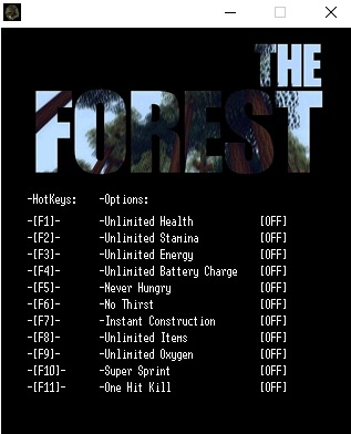 The Forest v0.55c Trainer