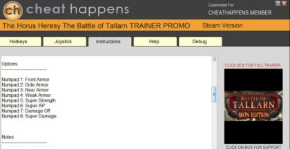 The Horus Heresy Battle Of Tallarn trainer