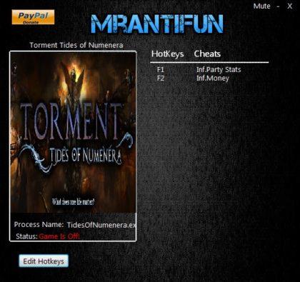 Torment Tides of Numenera Trainer +2