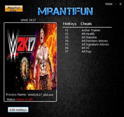 WWE 2K17 Trainer +7