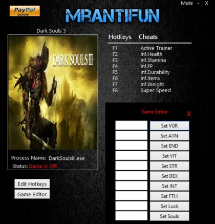 Dark Souls 3 trainer
