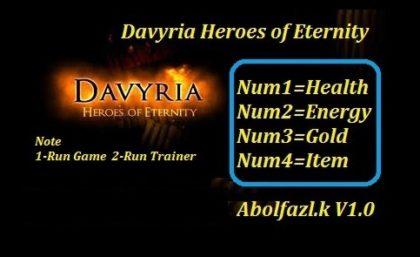 Davyria Heroes of Eternity trainer