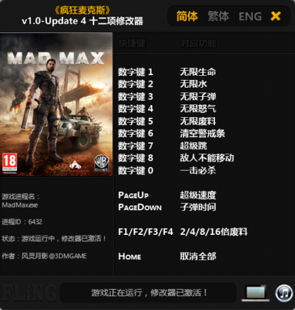 Mad Max Trainer +13 (Update 4), Cheats & Codes - PC Games ...