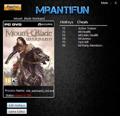 Mount & Blade Warband trainer