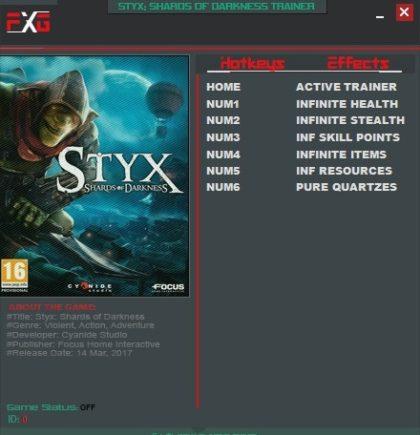 Styx Shards of Darkness Trainer