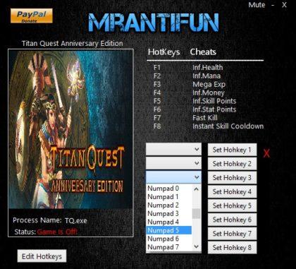 Titan Quest Anniversary Edition trainer
