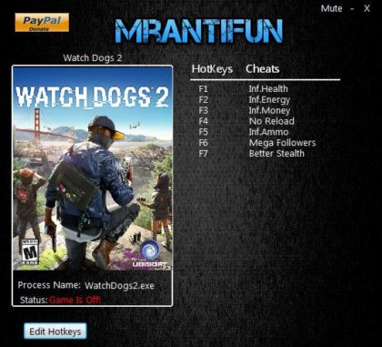 Watch_Dogs 2 v1.011 Trainer