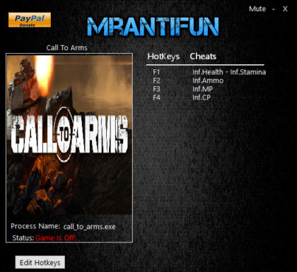 Call to Arms Trainer v0.913