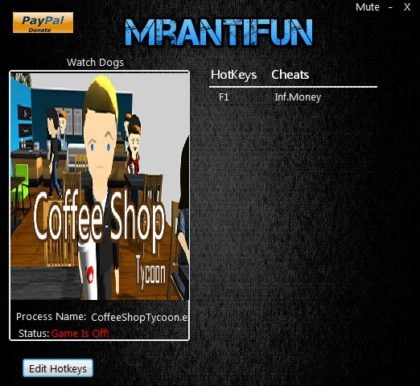 Coffee Shop Tycoon trainer