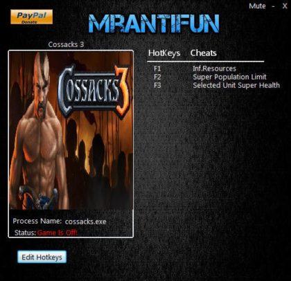Cossacks 3 cheats pc