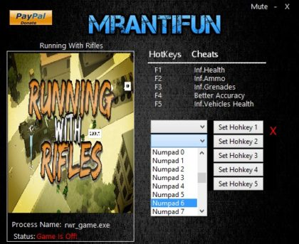 Running With Rifles 1.50 cheats