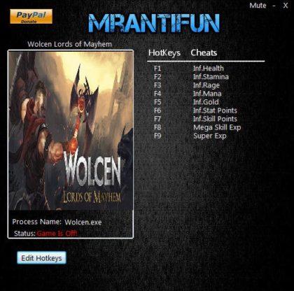 Wolcen Lords of Mayhem trainer 0.4