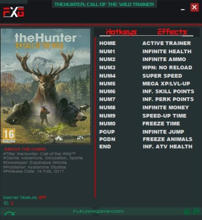 The Hunter: Call of the Wild v1 26 Trainer +14, Cheats & Codes - PC