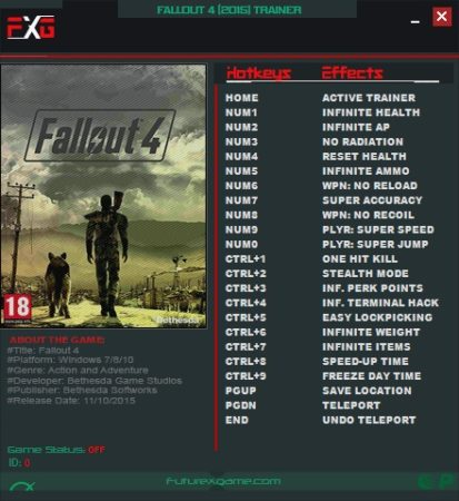 Fallout 4 Cheats Pc