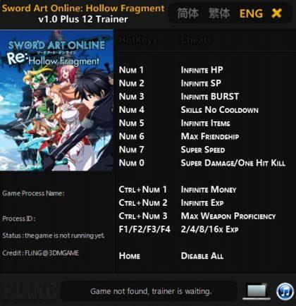 Sword art online hollow fragment english release date in Australia