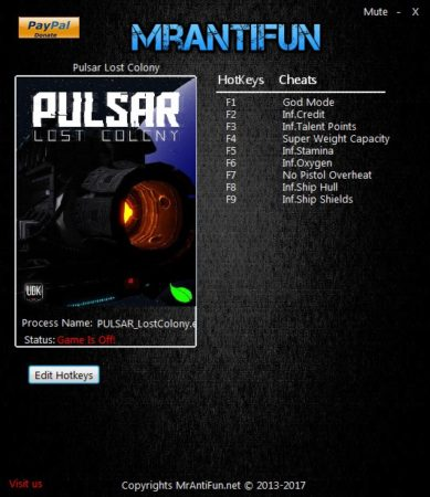 Pulsar Lost Colony 20 3 Trainer +9, Cheats & Codes - PC